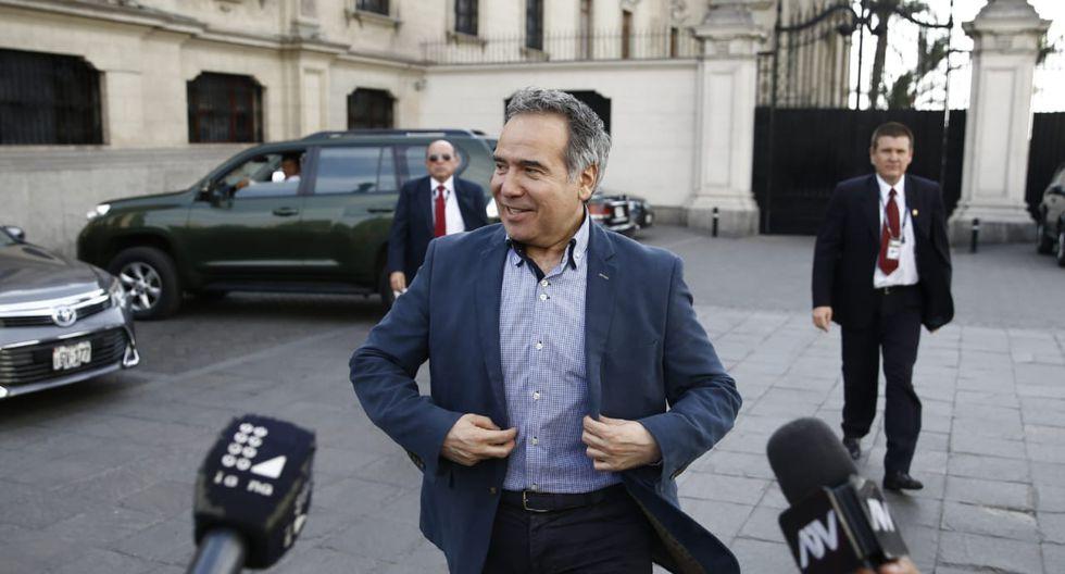 Francisco Petrozzi se reunió este lunes con el primer ministro, Vicente Zeballos, en la PCM. (Foto: Renzo Salazar / GEC)