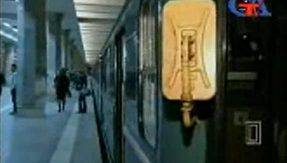 Imagen del metro de Bakú, en Azerbaiyán. (Fuente: You Tube)