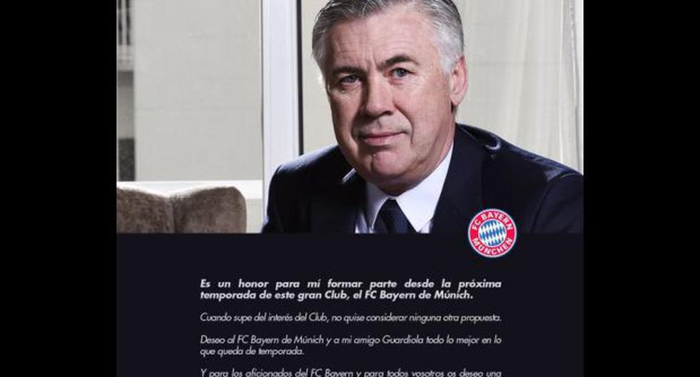 Ancelotti: primeras palabras del próximo DT del Bayern Múnich - 1