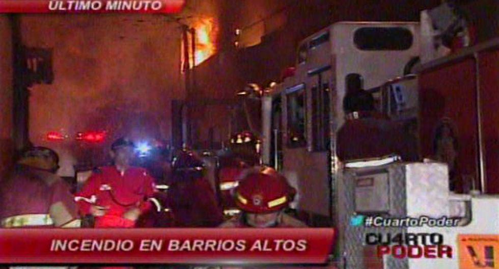 Incendio en Barrios Altos fue controlado por bomberos