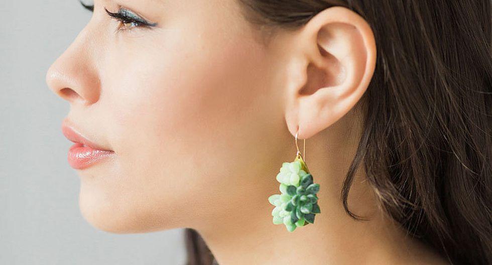 Estas piezas de joyería están hechas con plantas reales - 3