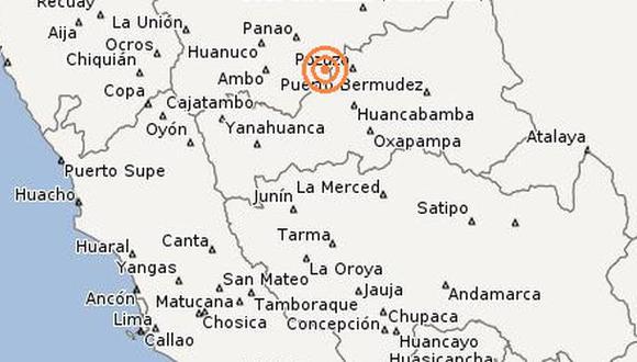 Temblor en Pasco: IGP registró 4,5 grados Richter