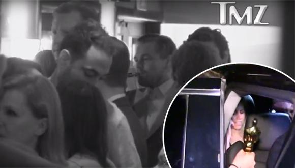 Leonardo DiCaprio celebró y olvidó Oscar en restaurante [VIDEO]