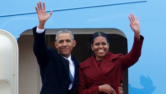 Cómo fueron las primeras horas de Obama fuera de la Casa Blanca