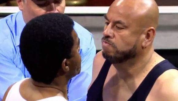 Mathías Brivio arbitró el duelo entre el'Diamante' y 'Mr. Peet'. (Foto: Fox Sports Radio)