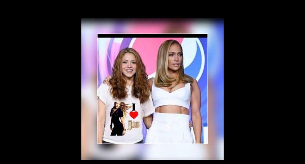 Shakira y Jennifer Lopez protagonizaron los memes en el medio tiempo del Super Bowl. (Captura)