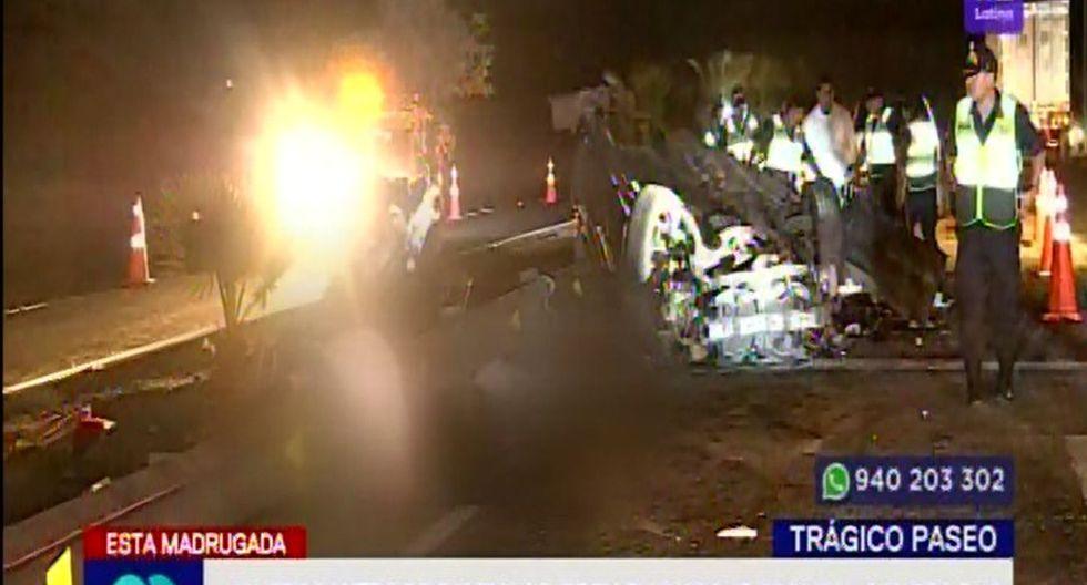 Las causas del accidente son investigadas por la Policía. (Captura: Latina)