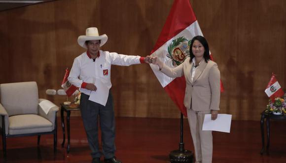 Los candidatos por Perú Libre, Pedro Castillo, y por Fuerza Popular, Keiko Fujimori, disputaron la segunda vuelta de las Elecciones 2021. (Foto: Renzo Salazar /@photo.gec)