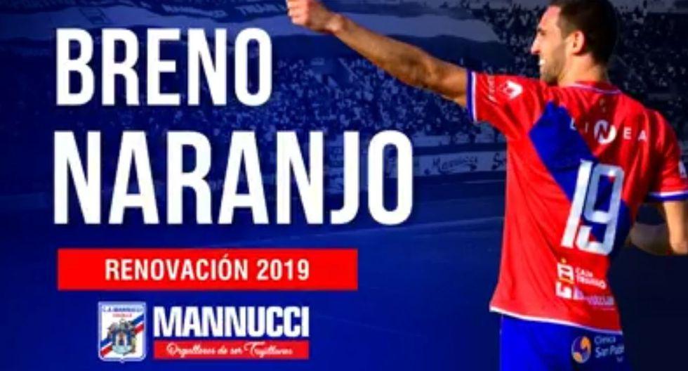 Breno Naranjo renovó su contrato con Carlos A. Mannucci. (Foto: captura)