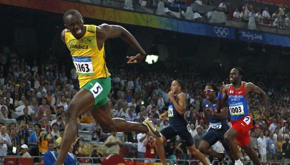 Usain Bolt cruza la meta en los Juegos Olímpicos de Beijing 2008. El jamaiquino es el mejor representante de la velocidad en el mundo. (Foto: AFP)