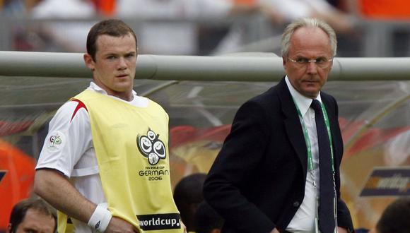 Sven-Goran Eriksson fue el entrenador de la selección de Inglaterra durante los años 2001 y 2006. Para el sueco Wayne Rooney todavía tiene fútbol para entregar en Rusia 2018. (Foto: AFP)