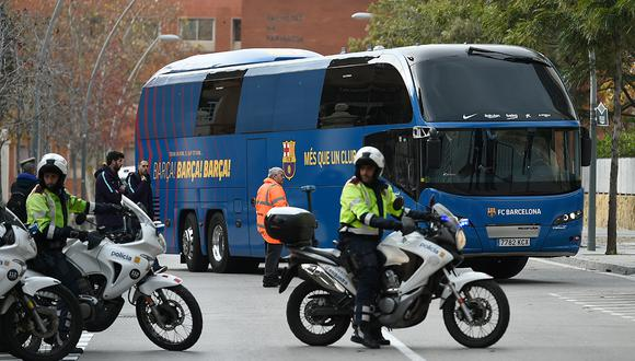 El plantel completo de Barcelona estaba en el bus cuando el chofer se perdió en el trayecto al centro de entrenamiento. (Foto: AFP)