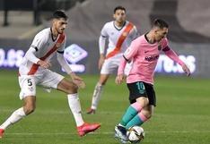 Barcelona, con gol de Messi, venció al Rayo Vallecano por Copa del Rey