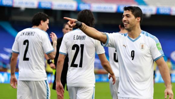 Uruguay consigue una gran victoria en Barranquilla ante Colombia por las Eliminatorias Qatar 2022   Foto: @Uruguay