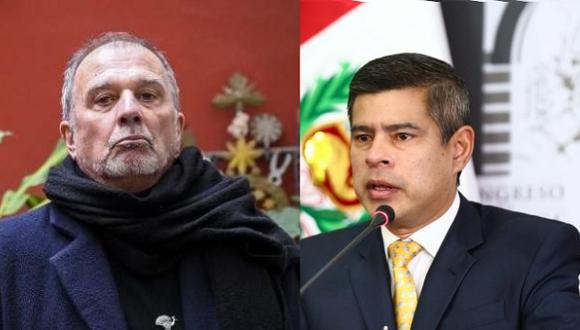 El escritor Rafo León y el presidente del Congreso, Luis Galarreta
