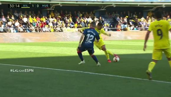 Pablo Fornals anotó de rabona para el Villarreal. (Foto: Captura ESPN)