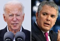 Joe Biden le manifiesta a Duque su deseo de trabajar de cerca con Colombia durante su mandato