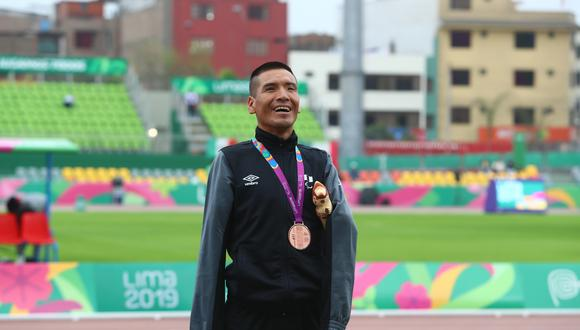 Efraín Sotacuro: Medalla de bronce en para atletismo 1,500 metros. (Foto: Alessandro Currarino / GEC)