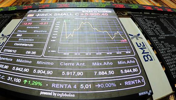 En Madrid, el índice IBEX 35 cerró en9,085 unidades tras ceder 0.06%. (Foto: AFP)