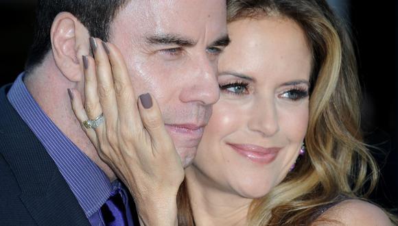 John Travolta y Kelly Preston estuvieron casados 28 años. Fruto de su amor tuvieron tres hijos, el mayor murió a los 16 años (Foto: AFP)