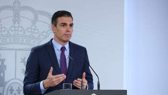 Pedro Sánchez dice estar preocupado por la evolución de la pandemia de coronavirus en Madrid. (AFP).