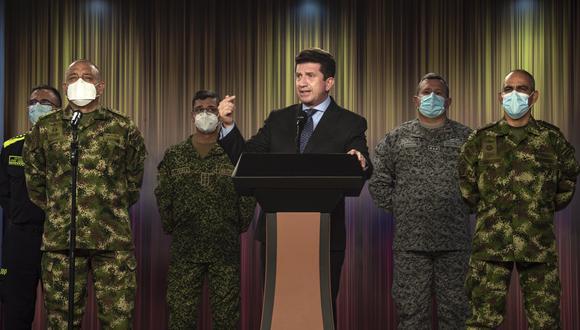 """El ministro de Defensa de Colombia, Diego Molano, detalló que la operación militar se llevó a cabo en el selvático departamento de Guainía. Entre los abatidos figura alias """"Ferney"""", segundo jefe del Frente Primero Armando Ríos. (Foto: Twitter @Diego_Molano)"""