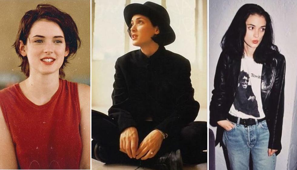 En clave 'grunge'. La actriz de Stranger Things fue ícono de los años noventa por su espíritu rebelde y desenfadado. (Fotos: Instagram/ winonaryderofficial)