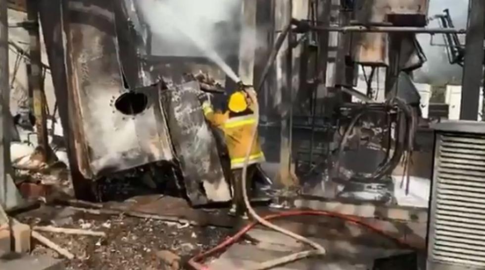 Apagón en Venezuela   Guri   Chavismo dice que incendio provocado fue causa del apagón en Venezuela. (Captura)
