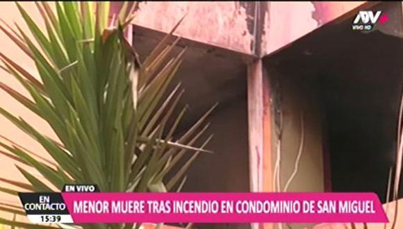 El hecho ocurrió en un complejo habitacional situado en la avenida Alfonso Ugarte, en San Miguel. (ATV+)