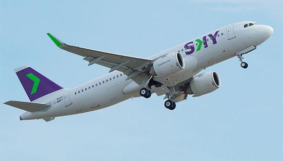 Este mes Sky Airline Perú aumentó dos nuevos aviones para cubrir rutas domésticas y para el primer trimestre del 2020 tendrán dos aviones más, que se destinarán para vuelos internacionales (Foto: Difusión)