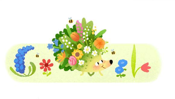 Este doodle recuerda el inicio del equinoccio de Primavera. (Foto: Google)