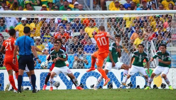 Holanda vs. México: el golazo de Sneijder que empató el partido
