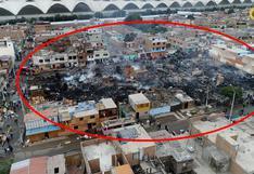 Callao: una cuadra quedó en cenizas por incendio en asentamiento humano | VIDEO