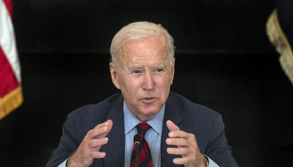Joe Biden quiere que el 50 % de los vehículos nuevos sean eléctricos en el 2030 en Estados Unidos. (JIM WATSON / AFP).
