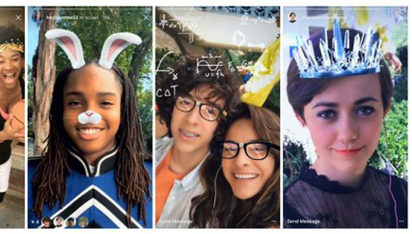 Estos filtros de realidad virtual son la novedad en la red social. (Foto: Instagram)