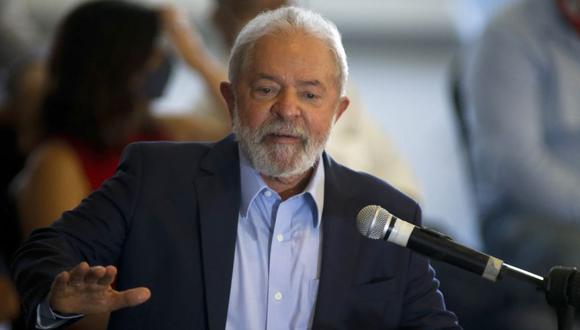 El expresidente brasileño (2003-2011) Luiz Inacio Lula da Silva, en una conferencia de prensa en Sao Bernardo do Campo, en el área metropolitana de Sao Paulo, Brasil. (Foto: Miguel SCHINCARIOL / AFP / Archivo).