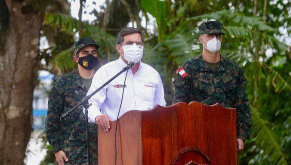 """""""No queremos, ni debemos ser triunfalistas, pero los números están indicando de una u otra manera que estamos yendo por el buen camino"""", aseguró Chávez Cresta   Foto: Ministerio de Defensa"""