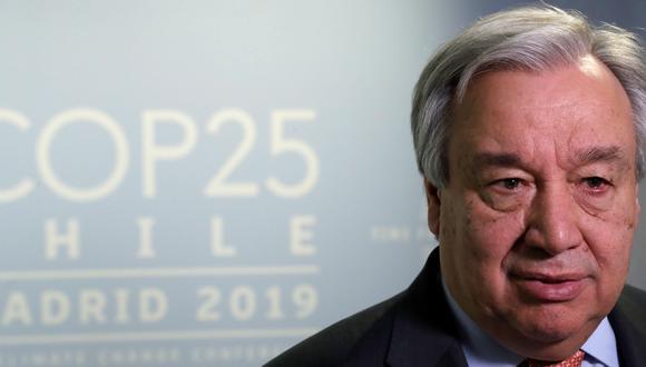 António Guterres, secretario general de la ONU. (EFE/Zipi).