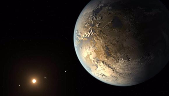 Esta ilustración muestra a Kepler-186f, el primer planeta validado del tamaño de la Tierra que orbita una estrella distante en la zona habitable. (NASA AMES/JPL-CALTECH/T. PYLE)