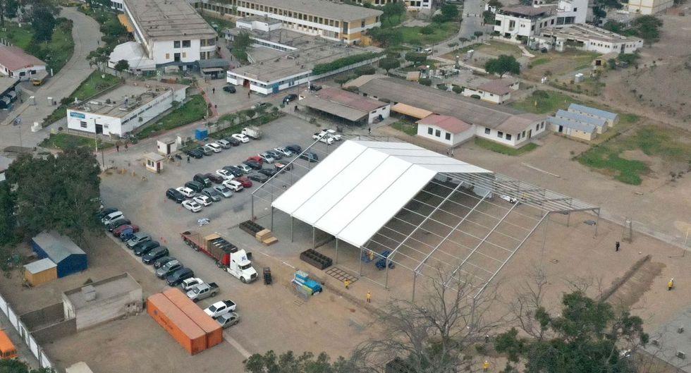 Así avanzó la construcción del Centro de Atención y Aislamiento Covid-19 del hospital Nacional Hipólito Unanue. (Proyecto Legado Lima 2019)