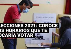 Elecciones 2021: ¿A qué hora te tocaría ir a votar según el último dígito de tu DNI?