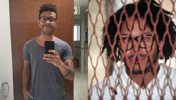 A la izquierda, uno de los múltiples selfies que el mexicano Kalimba comparte en sus redes sociales. A la derecha, en 2011, cuando compareció ante un juez por la acusación de violación. Fotos: @kalimbaofficial/ José Domínguez para AFP.