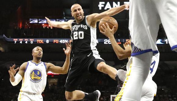 Manu Ginóbili formó parte de los San Antonio Spurs de la NBA durante 16 temporadas, desde 2002 hasta 2018.