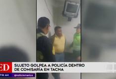 Tacna: sujeto en estado de ebriedad pateó a policía dentro de comisaría