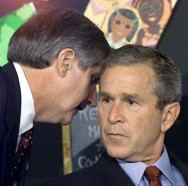 President George W. Bush has warned of attacks on his chief executive, Andrew Gardiner.  (AFP photo by Paul J. Richards).