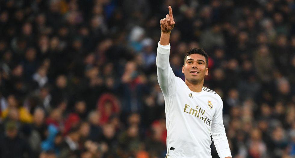 Casemiro anotó un doblete en el Real Madrid vs. Sevilla por LaLiga Santander. (AFP)