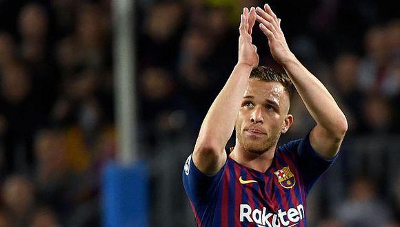 Arthur Melo se despidió de FC Barcelona. (Foto: AFP)