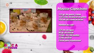 Tres minutos de dulzura: aprenda a preparar mousse de cappuccino