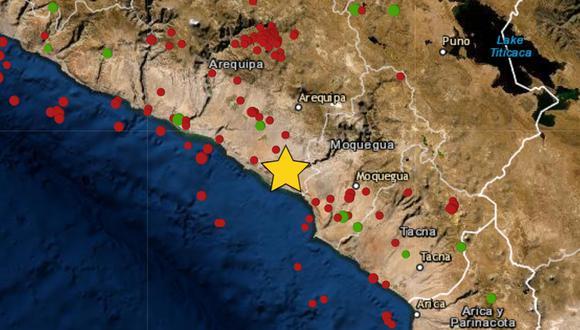 El sismo de magnitud 4,2 ocurrió en el distrito de Punta de Bombón, en la provincia de Islay, en la región Arequipa. (Foto: IGP)