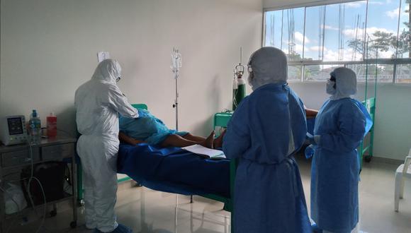 Sala de Maternidad ahora es la sala para madres con COVID-19. (Foto: Manuel Calloquispe)